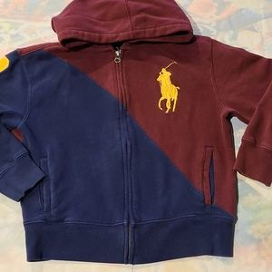Polo Ralph Lauren kids zipper sweatshirt